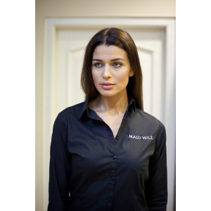 Černá košile s logem Malu Wilz