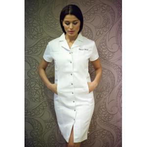 Šaty - elastické, bílé