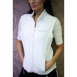 Fleecová vesta s logem MW - Bílá