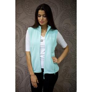 Fleecová vesta s logem MW - Mint